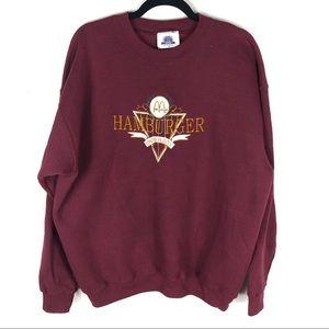 Vintage hamburger sweater J24